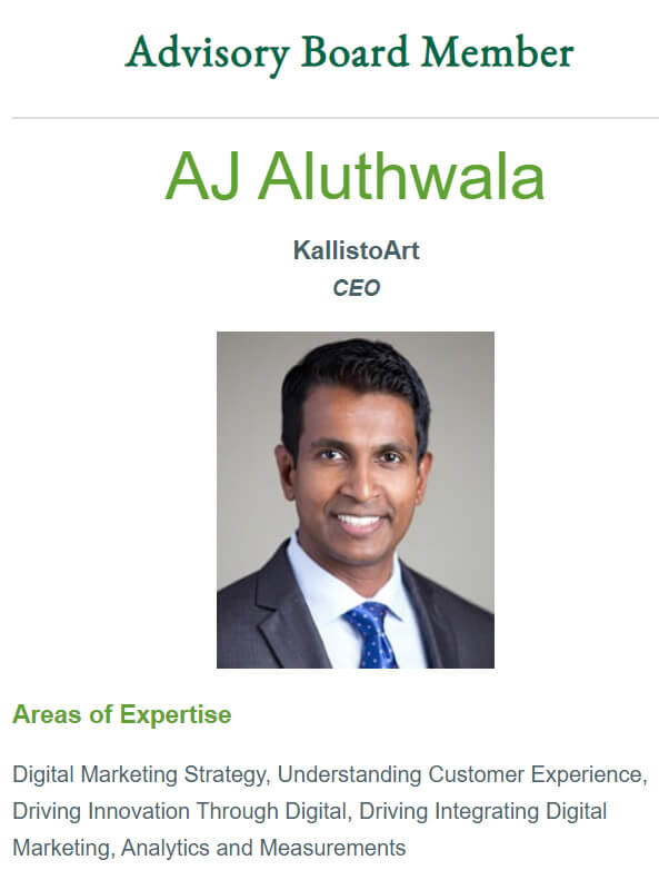 AJ Aluthwala - USF Digital Marketing Program Advisor